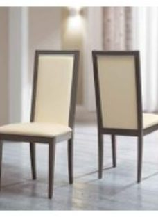 Camel Platinum Day Liscia Ivory Upholstered Italian Dining Chair with Padded Back