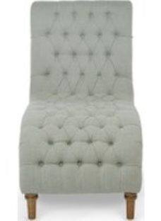 Serene Inverness Duck Egg Grey Fabric Lounge Chaise
