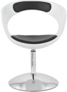 Cara Faux Leather Chair - White and Black