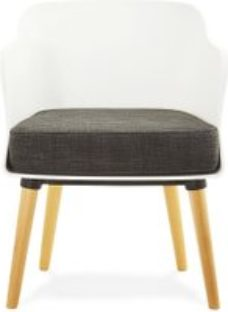 Aprio Chair - White and Dark Grey