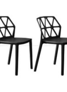 Connubia Achemia Technopolymer Stackable Dining Chair (Set of 4)