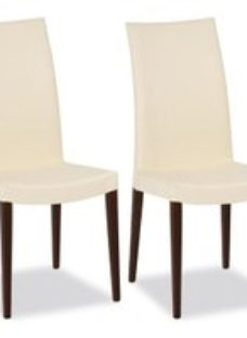 Connubia Cometa Upholstered Wooden Dining Chair (Pair)