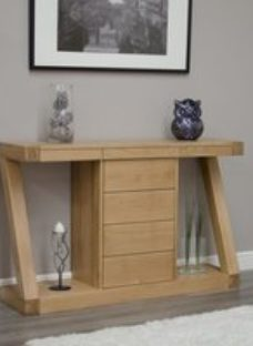 Homestyle Z Oak Designer Wide Console Table with Drawers