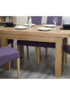 Homestyle Bordeaux Oak 1 Leaf Small Extending Dining Table