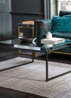 Gallery Pippard Black Mirrored Coffee Table