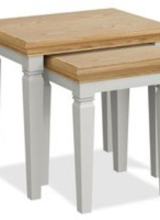Global Home Chester Nest Of 2 Tables - Oak and Soft Grey Painted