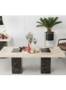 Vienna Coffee Table - Cream and Brown Marble - Urban Deco