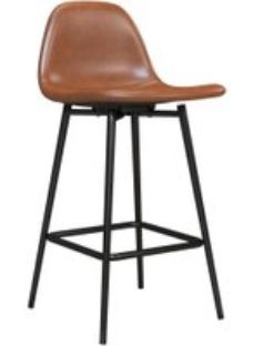 Alphason Calvin Camel Faux Leather Counter Stool - S025416UK