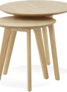 Wallasey Nest of Tables - Natural and Oak