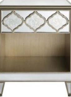 Morocco Mirrored Bedside Cabinet - 1 Drawer