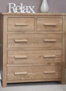 Homestyle Opus Oak 2 Over 3 Drawer Chest