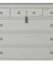 Willis and Gambier Atelier Distressed White 6 Drawer Chest