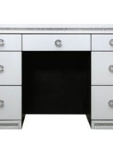 Rocca White Mirrored Dressing Table - 7 Drawer
