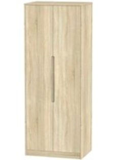 Monaco Bardolino 2 Door Double Wardrobe - Tall 2ft 6in Plain