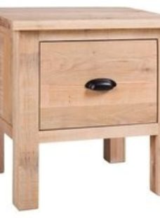 Vancouver Sawn White Washed Oak 1 Drawer Lamp Table