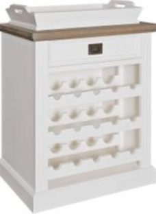 Westwood Oak and Painted Wine Cabinet with Tray