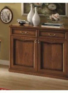 Camel Nostalgia Day Walnut Italian Buffet Sideboard