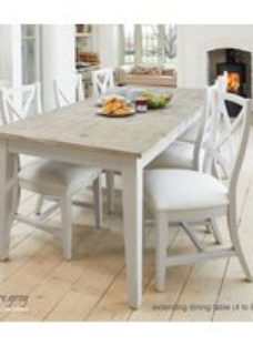 Baumhaus Signature Grey Painted Extending Dining Table and 6 Chairs