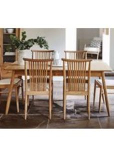 Ercol Teramo Oak Medium Extending Dining Set with 6 Chairs