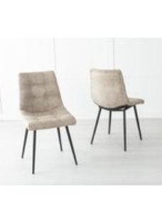 Shoreditch Beige Faux Leather Dining Chair