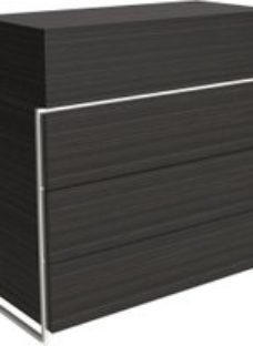 Gillmore Space Federico Wenge 4 Drawer Chest with Polished Chrome Frame