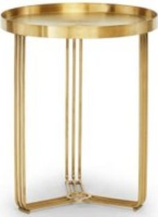 Gillmore Space Finn Brass Brushed Round Side Table