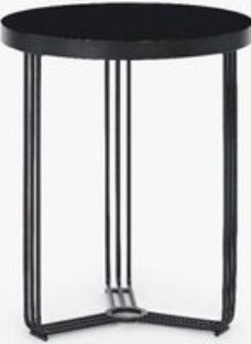 Gillmore Space Finn Black Glass Round Side Table