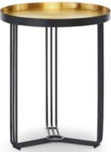Gillmore Space Finn Brass Brushed and Black Matt Round Side Table