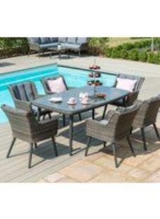 Maze Rattan Florence Grey 6 Seat Rectangular Dining Set