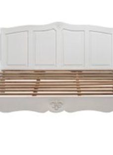 Urban Deco Fleur French Style Distressed White Painted 5ft King Size Bed