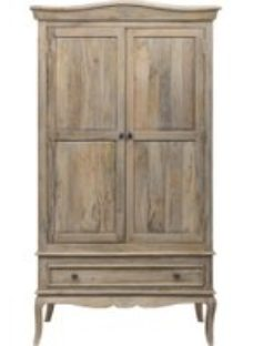 Urban Deco Fleur French Style Shabby Chic 2 Door Double Wardrobe