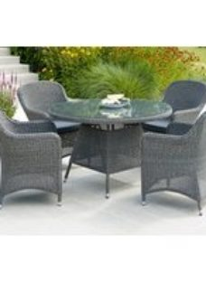 Alexander Rose Monte Carlo 120cm Round Dining Table with Glass