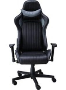 Alphason Senna Black and Grey Faux Leather Office Chair - AOC5126GRY