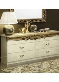 Camel Barocco Ivory and Gold Dresser