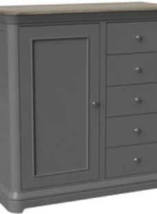 Pebble Slate Grey Painted Gents Chest - Devonshire Furniture