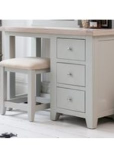 Costwold Oak and Grey Painted Dressing Table