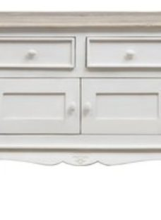 Urban Deco Fleur French Style Shabby Chic Painted 2 Door Sideboard