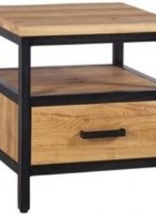 Forge Industrial 1 Drawer Side Table