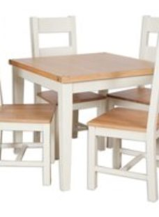 Perth French Ivory Dining Set with 4 Chair