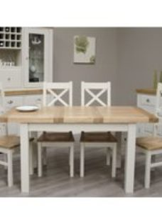 Homestyle GB Painted Deluxe Extending Dining Table and Cross Back Chairs