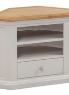 Homestyle GB Cotswold Oak and Painted Corner TV Unit