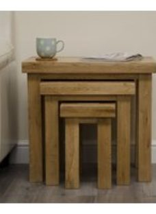 Homestyle GB Deluxe Oak Nest of Tables