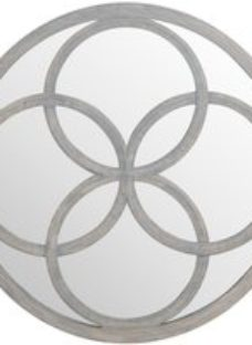 Hill Interiors Flower of Life Grey Painted Wall Mirror - 90cm x 90cm