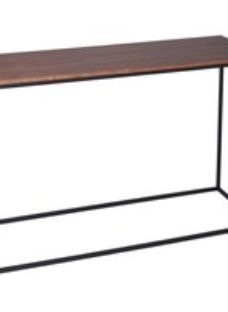 Westminster Walnut and Black Console Table