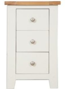 Perth Bedside Cabinet - Oak and Ivory Painted