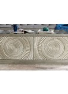 Filton Silver Embossed Coffee Table with Mirrored Top