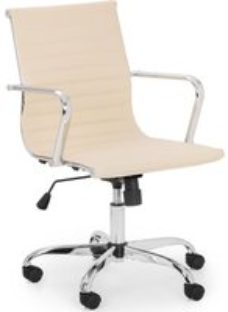 Julian Bowen Gio Ivory and Chrome Office Chair