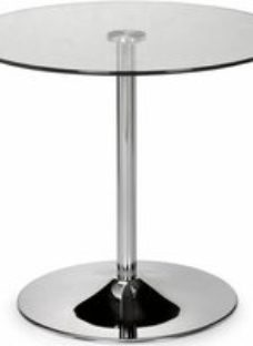 Julian Bowen Kudos Glass and Chrome Round Dining Table