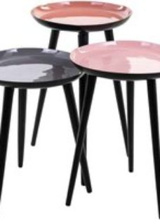 Trinity Round Side Table (Set of 3)