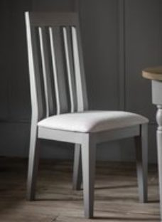 Clearance - Gallery Cookham Grey Dining Chair (Pair) - New - FSS8819